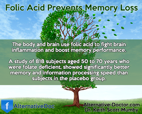 Folic Acid Prevents Memory Loss