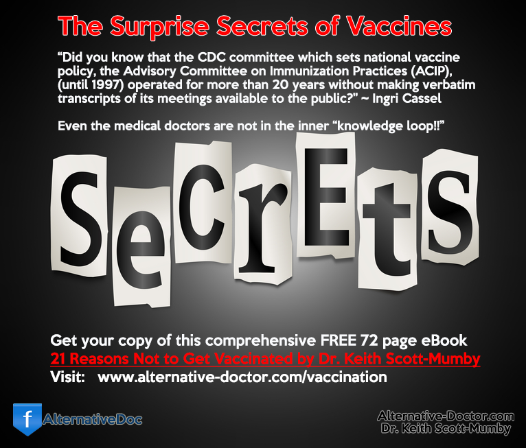Get the Free eBook Reasons Not to Get Vaccinated by Dr. Keith Scott-Mumby