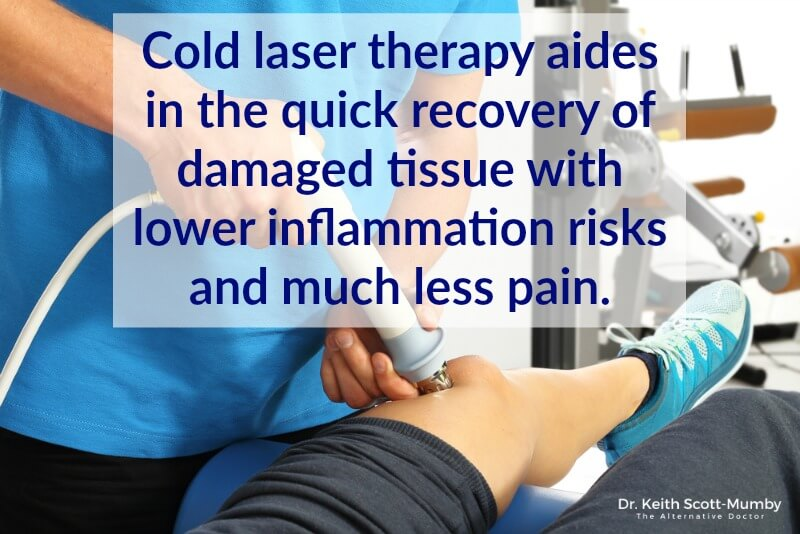 This several decades old method is gaining traction as more people discover the many benefits it has. Click here to learn about the future of chronic pain relief, cold laser therapy...