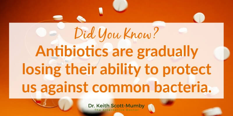 Now, more than ever in mankind's history, we must find reliable, affordable, and effective antibiotic alternatives. Click here to learn about 5 antibiotic alternatives and ways to remain healthy at all times...