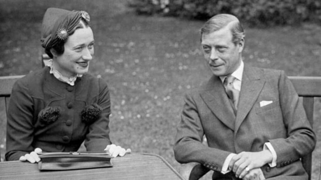 Ex-King Edward with Wallis Simpson.